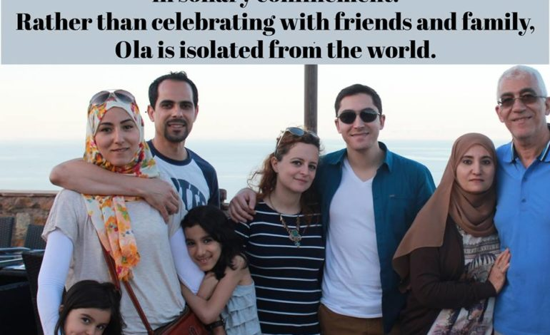 Ola Spends her 56th birthday in Solitary Confinement