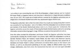 EU Member of ParliamentAna Gomes asks for the freedom of Ola and Hossam