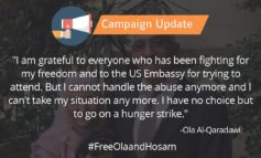 Campaign Update: Ola Al-Qaradawi Starts A Hunger Strike To Demand Her Freedom After One Year Of Solitary Confinement